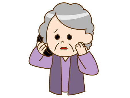 Grandmother anxiety telephone