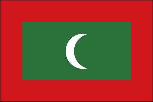 Maldives flag (without name)