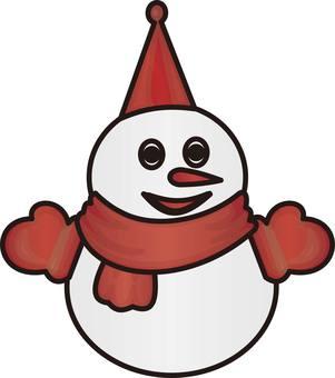 Illustration of a snowman