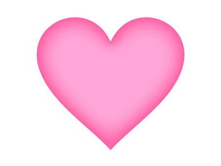 Heart (pink gradation)