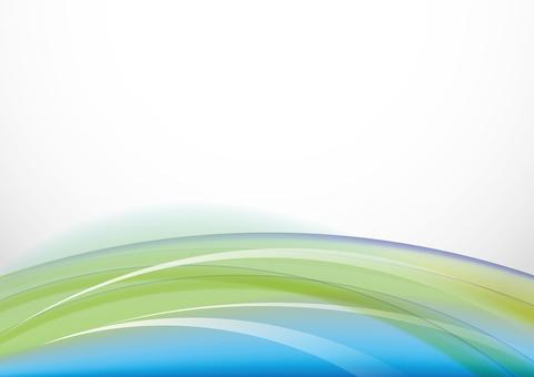 五顏六色的風 - 黃綠色和藍色