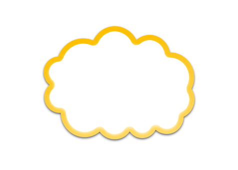 Cloud type balloon (yellow, hollow)