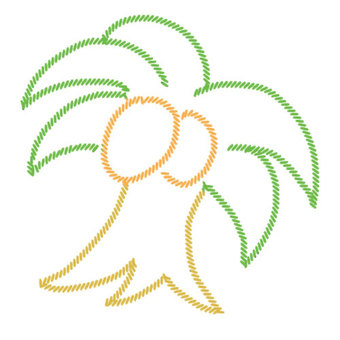 Embroidery palm tree