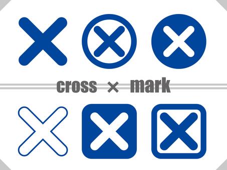 Cross mark TYPE02 Blue