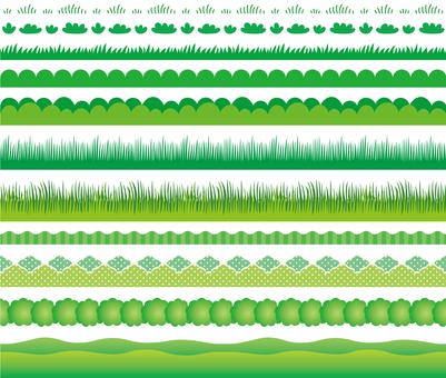 잔디 장식 괘 세트