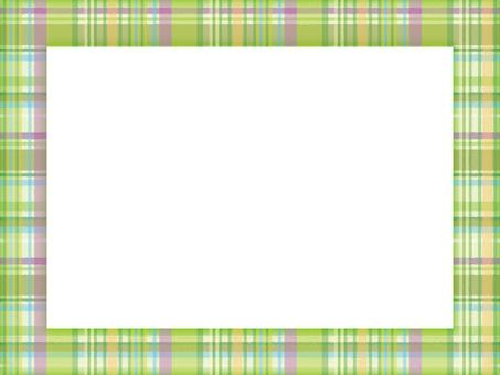 Decorative frame check 02 green
