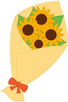 向日葵花束黃色