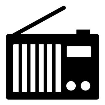 Radio icon 2 (black and white