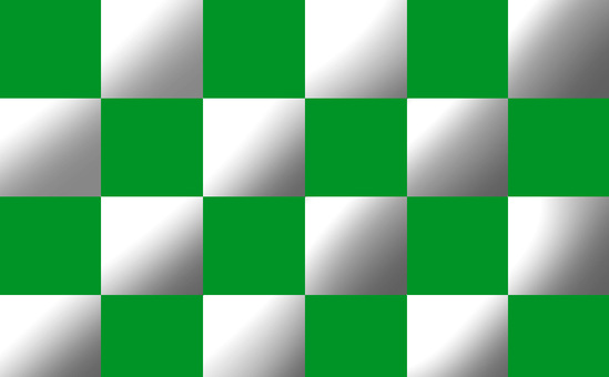Green and silver checkered