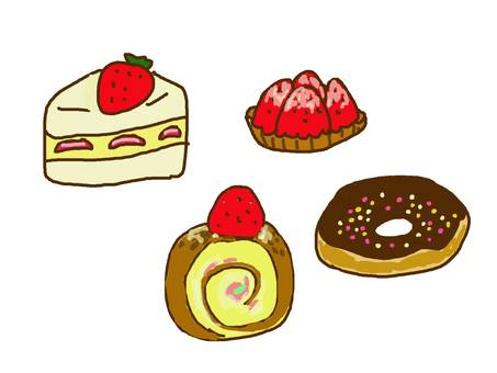 Cake and donuts