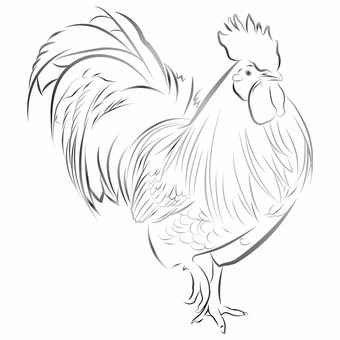 Chicken (ink painting style) 05