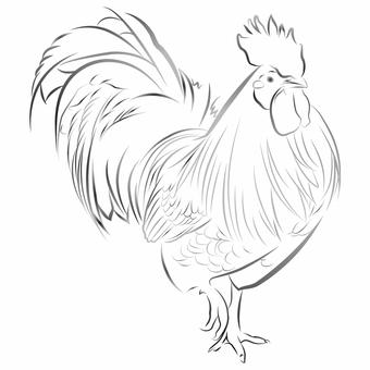 雞(水墨風格)05