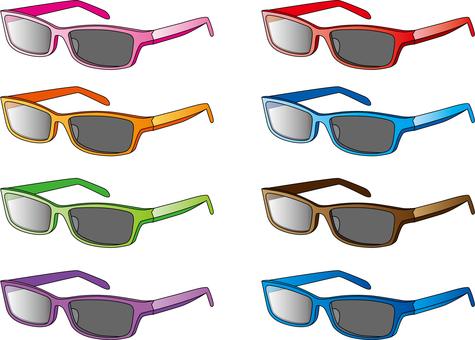 선글라스 각 색상, 광장