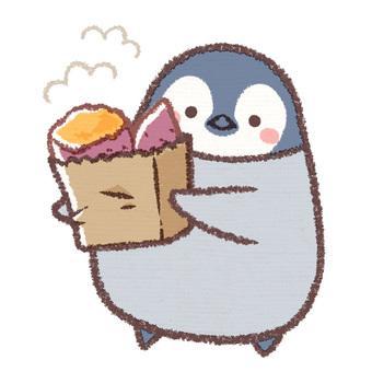 Baked salmon penguin chick