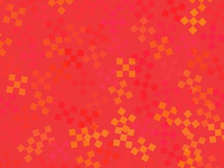 Red carpet Japanese pattern background