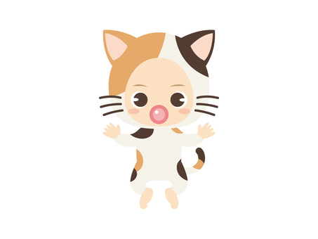 B055_baby clothes baby_cat