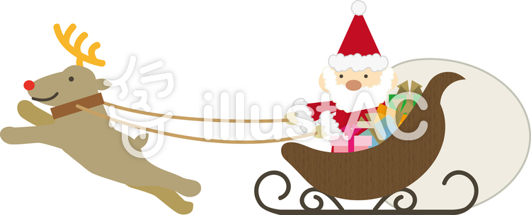 クリスマス素材07サンタとソリイラスト No 899062無料イラスト