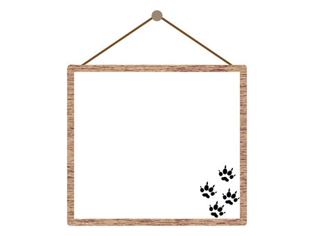 Cat footprints hanging tree sign