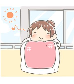 Hang the futon on a nice day