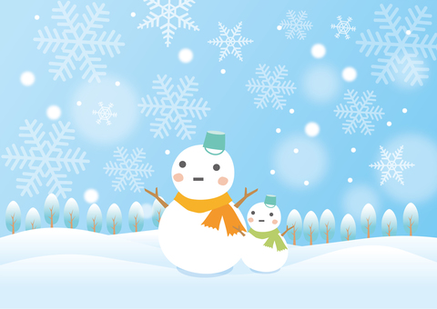 Scenery of a snowman