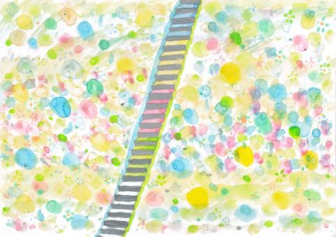 Spring sea staircase