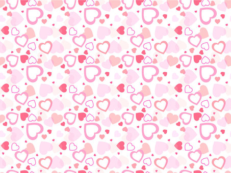 Heart scattered pattern pink
