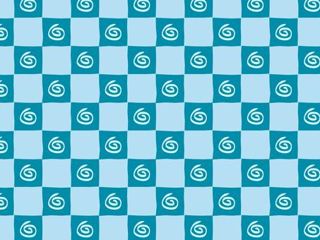 Guruguru Ippuri checker (blue)