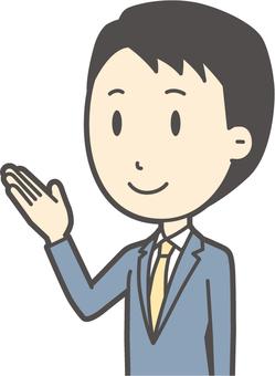 スーツ男性ネイビー-144-バスト