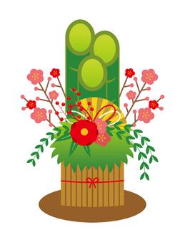 소나무 장식 그림