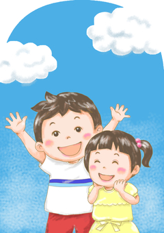 Blue Sky and Child