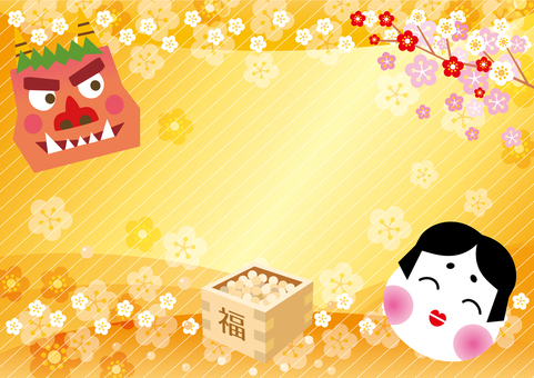 Setsubun Mumps and Demon Background