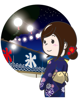A woman enjoying the summer festival