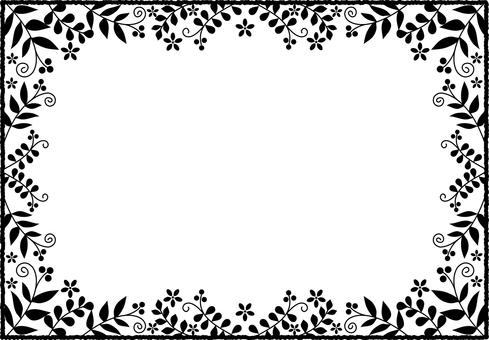 Plant frame silhouette