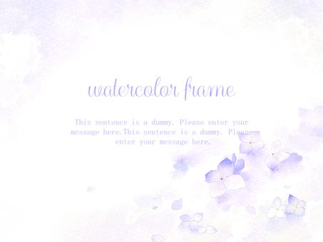 紫陽花のフレーム02/ピンク