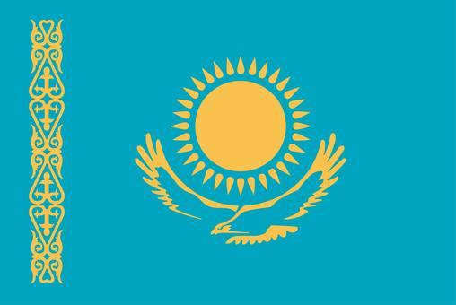 Kazakhstan flag (without name)