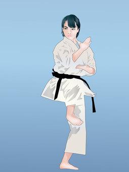 Karate girl 01
