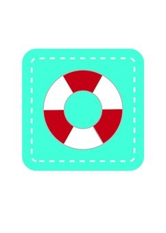 Lifesaving floating - icon