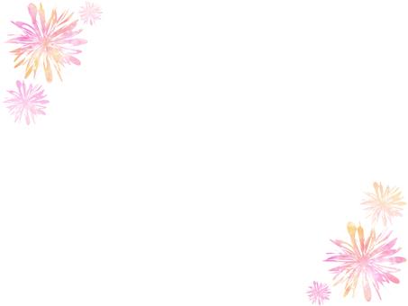 꽃 프레임 4 핑크