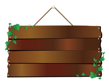 담쟁이있는 나무 간판