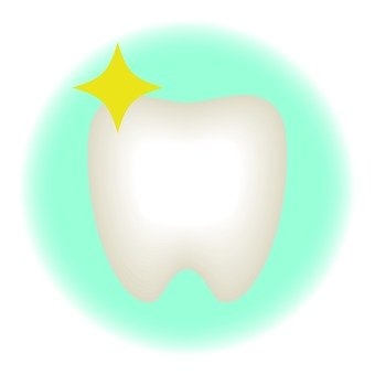 Teeth, light blue