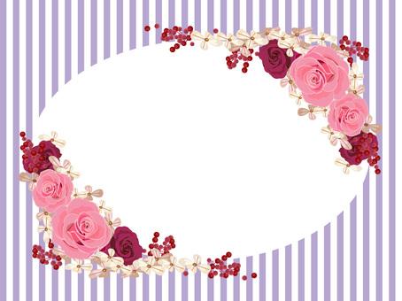 Rose frame purple