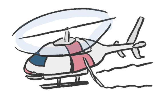 Unmanned helicopter for control