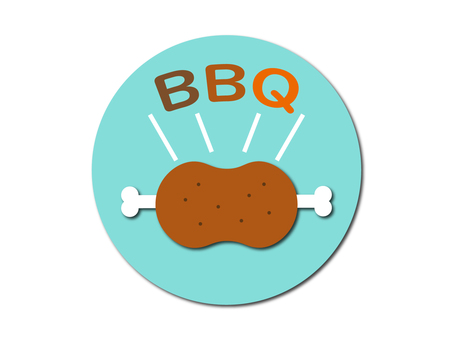 Illustration material of barbecue