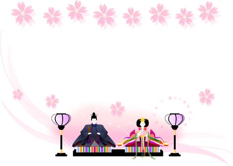 Festival frame of dolls