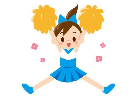 Cheer Girl - Jump Light Blue (No Line)