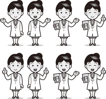 Pharmacist (female) B & W
