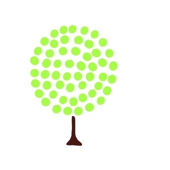 Scandinavian trees (green, round)