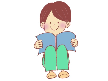 讀一本書的男孩