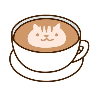 Latte art (cat)