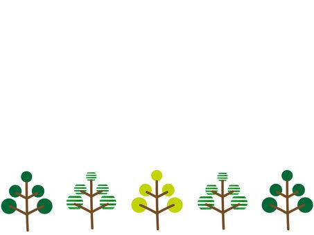 나무 모티브 프레임